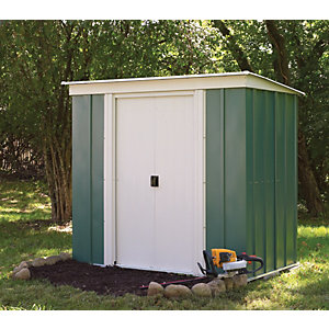 Rowlinson 6 x 4ft Double Door Metal Pent Shed without Floor