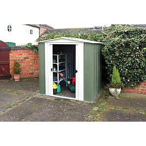 Rowlinson 6 x 5ft Double Door Metal Apex Shed without Floor