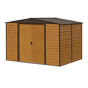 Rowlinson Woodvale 10 x 6ft Large Double Door Metal Apex Shed without Floor
