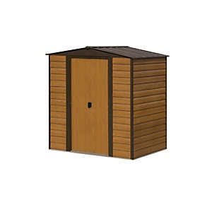 Rowlinson Woodvale 6 x 5ft Double Door Metal Apex Shed without Floor