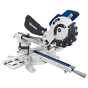 Wickes 210mm Corded Sliding Compound Mitre Saw - 1800W