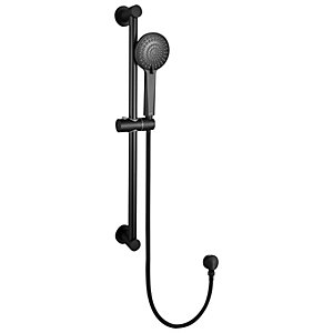 Bristan Round Riser Rail Shower Kit - Black
