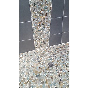 Wickes House of Mosaics Woolacombe Mosaic Tile Sheet - 300 x 300mm