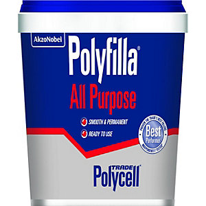 Polycell Trade Polyfilla Ready Mixed All Purpose Filler - 1kg