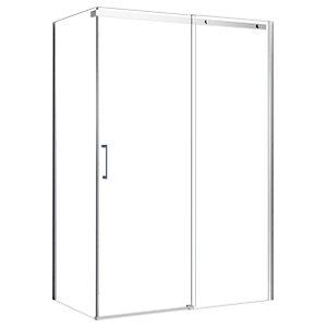 Nexa By Merlyn 8mm Frameless Chrome Sliding Shower Door Only - Various Sizes Available