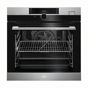 AEG Steam Boost Single Electric Stainless Steel Steam Oven BSK882320M