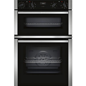 NEFF N 50 Built-In Stainless Steel Double Oven with Circotherm U1ACE5HN0B