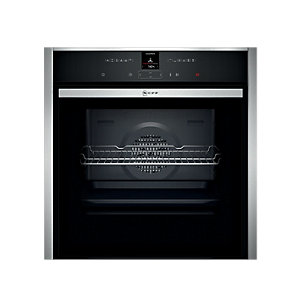 NEFF N 70 Built-In Single Multifunction Slide & Hide Black Pyrolytic Oven B57CR22N0B