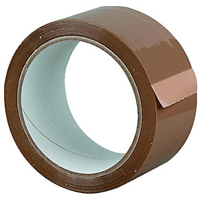 Wickes All Purpose Packaging Tape - Brown 48mm x 50m