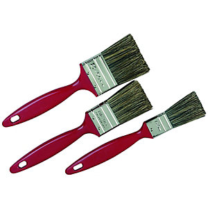 Wickes Trade Mixed Size Paint Brushes - Pack of 3