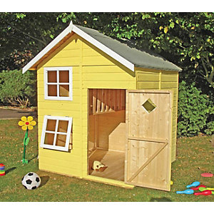 Shire 5 x 5ft Croft & Bunk Split Level Wooden Playhouse