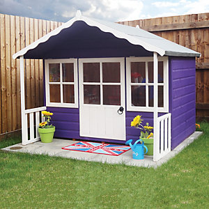 Shire 6 x 5ft Pixie Wooden Playhouse with Veranda