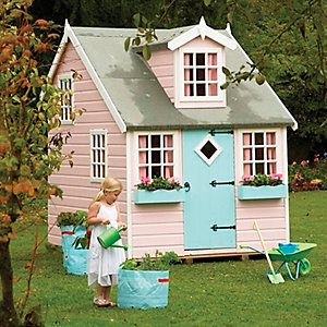 Shire 8 x 6ft Large Cottage & Bunk Wooden Children's Playhouse
