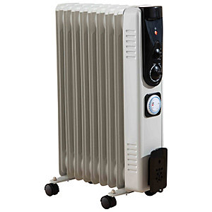 Fine Elements Oil Filled Radiator 2kw - White
