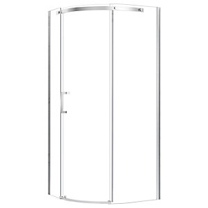 Nexa By Merlyn 8mm Left Hand Frameless 1 Door Quadrant Chrome Sliding Shower Enclosure - 900 X 900mm