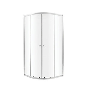 Wickes Quadrant Sliding Chrome Shower Enclosure - 800 x 800m