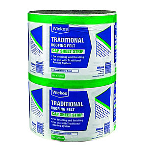 Wickes Traditional Green Cap Sheet Strip 250mm x 10m