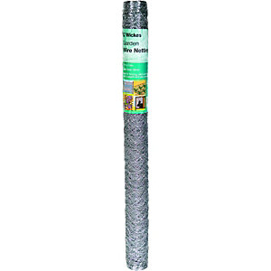 Wickes 50mm Galvanised Wire Netting - 900mm x 10m