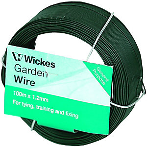 Wickes PVC Coated Garden Wire - 1.2mm x 100m