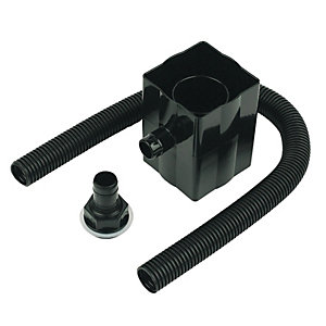Floplast Round or Square Downpipe Rainwater Diverter - Black