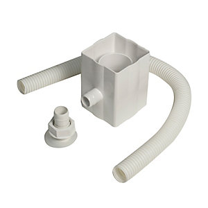 Floplast Round or Square Downpipe Rainwater Diverter - White