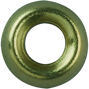 Wickes Brass Screw Cup Washers - No.6 Pack of 20