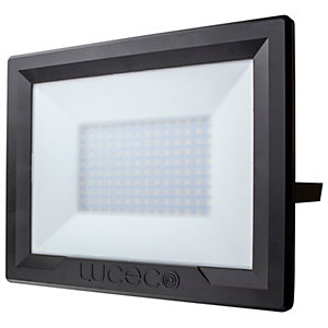 Luceco Eco Floodlight IP65 Black 100W