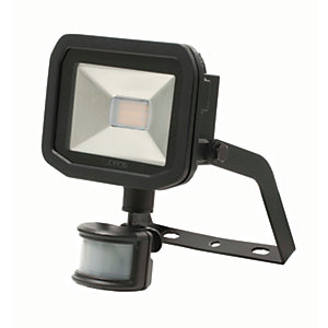 Luceco Guardian Slimline LED Black PIR Floodlight - 8W