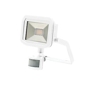 Luceco Guardian Slimline PIR Floodlight IP44 White 600 Lumens 8W