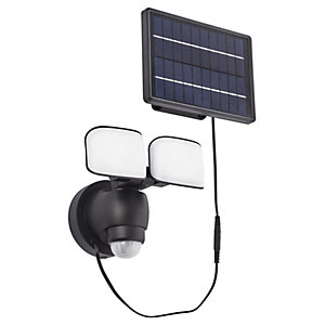 Saxby Omega Black Abs Plastic & Frosted Solar Security Light