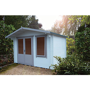 Shire 11 X 10 Ft Berryfield Double Door Garden Log Cabin