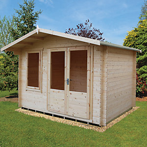 Shire 11 X 8 Ft Berryfield Double Door Garden Cabin