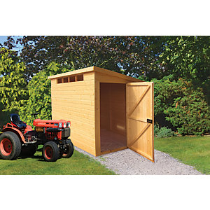 Shire Security Timber Pent Shed - 6 x 9 ft