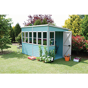Shire Timber Pent Potting Shed - 10 x 6 ft