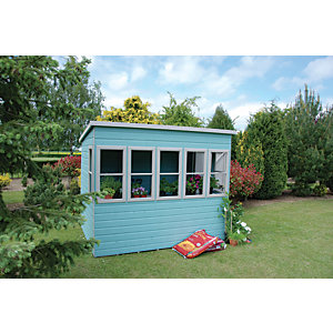 Shire Timber Pent Potting Shed - 8 x 8 ft