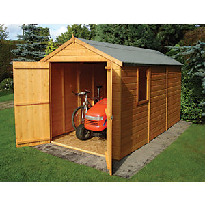 Shire Tongue & Groove Double Door Shed - 12 x 6 ft