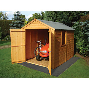 Shire Warwick Tongue & Groove Double Door Shed - 8 x 6 ft