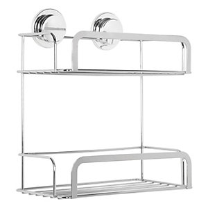 Croydex Stick&Lock 2 Tier Storage Basket