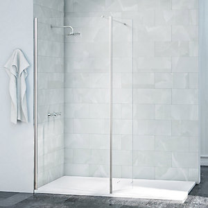 Nexa By Merlyn Chrome Frameless Swivel Wet Room Shower Panel Only - 2015 x 300mm