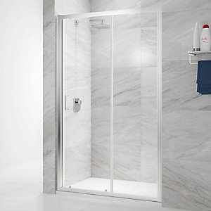 Nexa By Merlyn 6mm Chrome Framed Sliding Shower Door Only - 1000mm