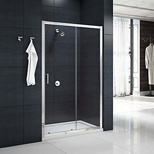 Nexa By Merlyn 6mm Chrome Framed Sliding Shower Door Only - 1400mm
