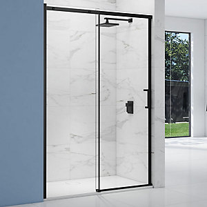 Nexa By Merlyn 8mm Black Frameless Sliding Door Only - 2000 x 1200mm