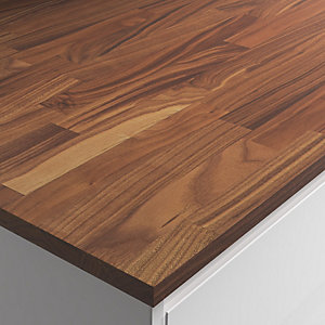 Engineered American Black Walnut Worktop Hard Wax Oil - 610mm x 22mm x 3m