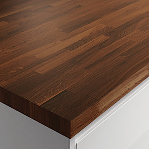 Wickes Solid Wood Worktop - Thermo Ash 600 x 40mm x 3m