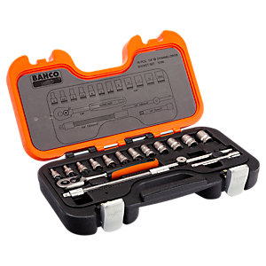 Bahco 16 Piece 1/4in Drive Socket Set