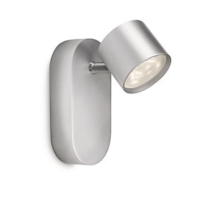 Philips Star LED Aluminium Single Wall Spotlight - 3W