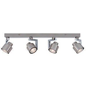Wickes Boulevard LED Brushed Chrome 4 Bar Spotlight