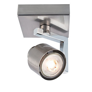Wickes Boulevard LED Brushed Chrome Single Spotlight