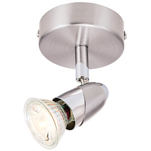 Wickes Bullet LED Brushed Chrome Single Spotlight - 3.5W