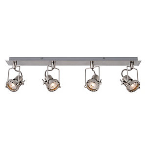 Wickes Studio LED Brushed Chrome 4 Bar Spotlight